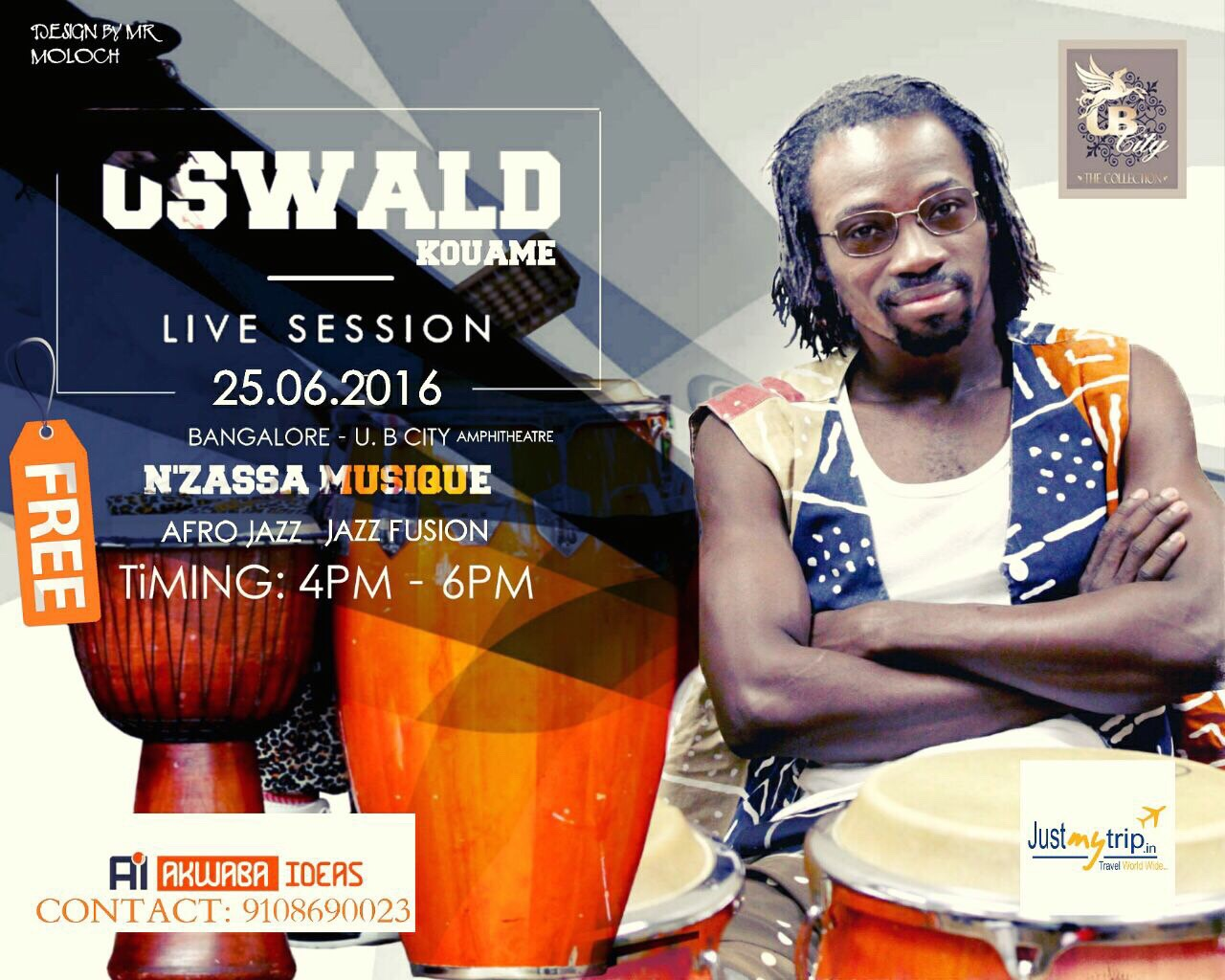 Oswald Kouame – Live Session –  Bangalore , India