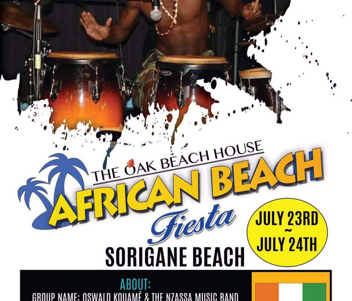 7/23(Sat),24(Sun) AFRICAN FESTIVAL @SORIGANE BEACH,Chiba