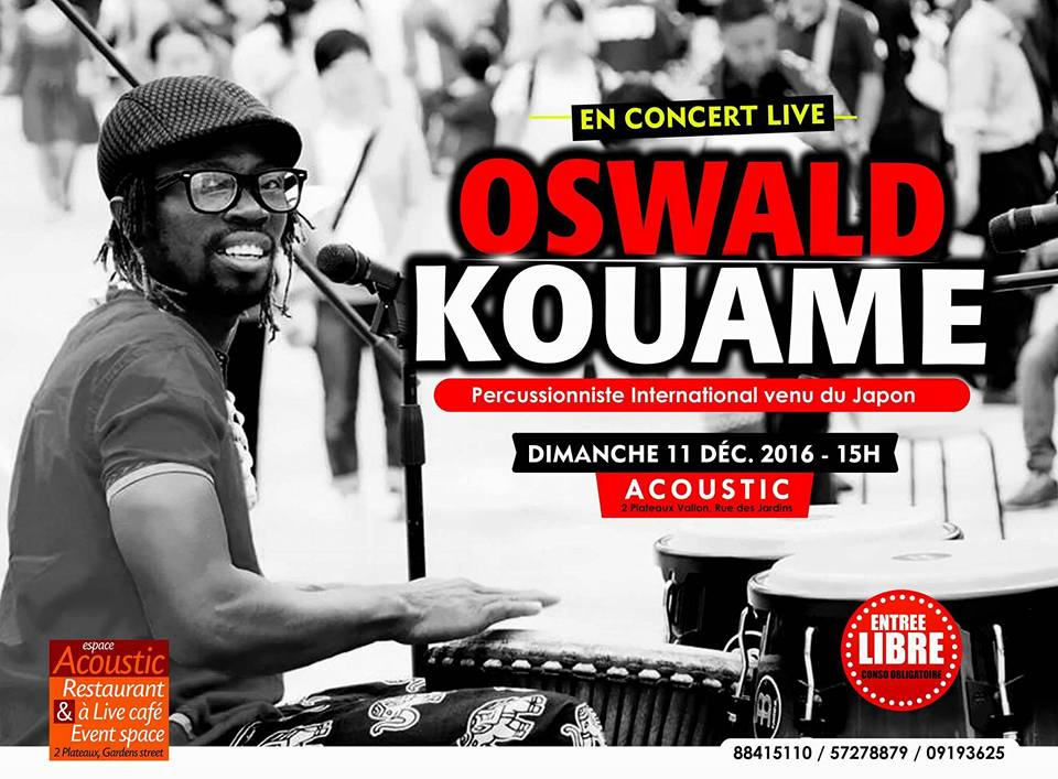 11 Dec (Sun) 16:00-19:00 @Accoustic Abidjan