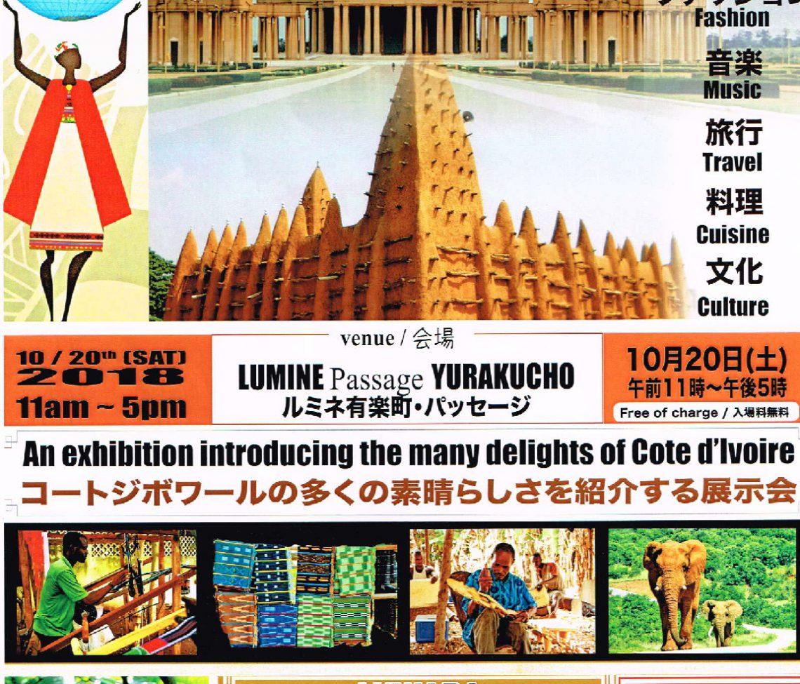 「コートジボワールの魅力」展示会